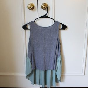 Urban Outfitters High-Low Grey and Teal Tank